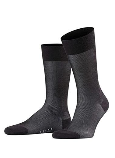 Falke Falke 101645396 Logo Jakarlı Erkek Çorap Siyah